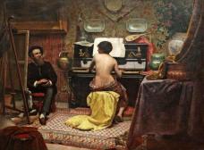 Model's rest, 1885, Almeida Júnior   <br />Foto Hugo Curti