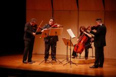 Quarteto Osesp se apresenta em 2019 no projeto Osesp MASP<br />Foto Daniel Cabrel