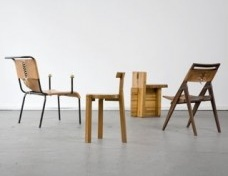 Grouping of chairs designed by Lina Bo Bardi<br />Joe Kramm  [R & Company]