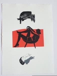 Rosana Paulino, A Deusa da Fortuna, 2010 (monotipia sobre papel, 53,5 x 39,5 cm)