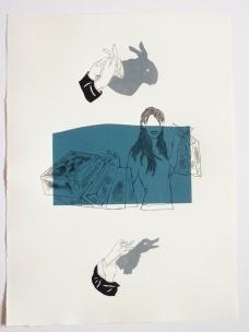 Rosana Paulino, A Hora da Limpeza, 2010 (monotipia sobre papel, 53,5 x 39,5 cm)