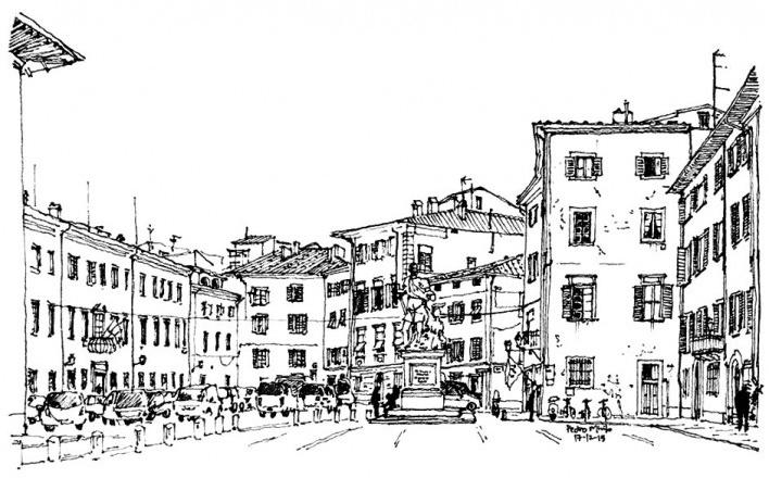 Piazza Carrara, Pisa, Itália