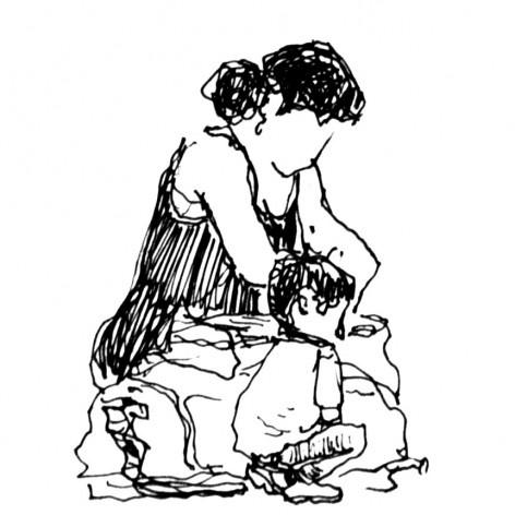 Mãe e filho, rodoviária de São José dos Campos