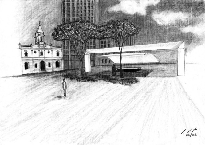 Praça do Patriarca, São Paulo. Arquiteto Paulo Mendes da Rocha