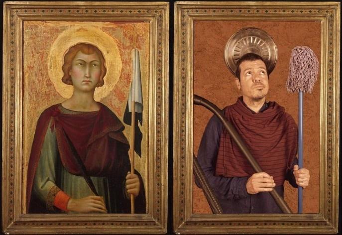 Tarefas de fim de semana, versão de Saint Ansanus, Simone Martini, 1326, The Metropolitan Museum of Art, New York