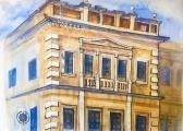Instituto de Educação do Paraná, detalhe de fachada, Rua Voluntários da Pátria, Curitiba PR