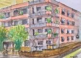 Edifício de apartamentos, Avenida Batel esquina com Rua Pe Idelfonso