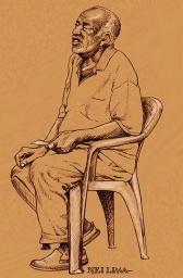 Homem segurando bilhete, Lapa, Centro, Rio de Janeiro