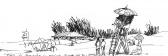 Banhistas na praia do Camacho
