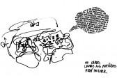 Homem lendo as notícias para a mulher, no carro (1983)
