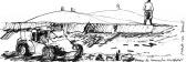 Banhistas e automóvel, praia do Camacho