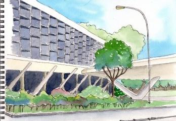 Pavilhão da Bienal, Parque Ibirapuera, São Paulo, arquiteto Oscar Niemeyer