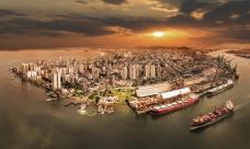 Pôr do Sol em Santos, ganhou a estatueta de Melhor Foto Drone - Edição 2019/2020<br />Imagem Ale Andreazzi (SP)