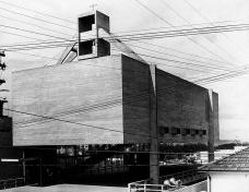 Centro Paroquial São Bonifácio, São Paulo, 1966. Arquiteto Hans Broos<br />Foto divulgação  [Acervo Hans Broos]