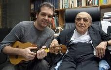 Edu Krieger, compositor, e Oscar Niemeyer, letrista<br />Foto divulgação  [Gravadora Deck]