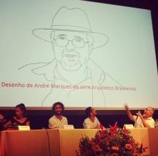 Homenagem a Luiz Carlos Toledo, sentado à direita<br />Foto Igor De Vetyemy Ipãmakãyê Pataxó