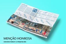 Como menção honrosa a equipe formada pela acadêmica Laura Flach Aurvalle da Universidade Federal do Rio Grande do Sul - UFRGS - Porto Alegre/RS<br />Imagem divulgação