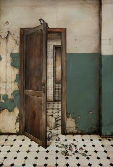 Andrey Rossi Intervalos para um fim 2020 Óleo sobre tela 100 x 150 cm<br />Imagem divulgação