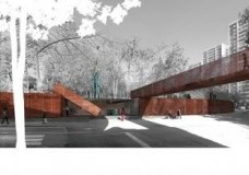"""Parque Museo """"Humano"""", 2014 - ongoing, Santiago, Chile<br />Rendering by ELEMENTAL"""