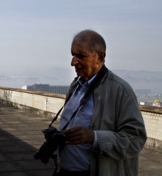 Roberto Segre na cobertura do Palácio Capanema, Rio de Janeiro<br />Foto Silvana Romano Santos