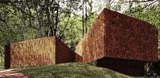 """Galeria Cláudia Andujar em Inhotim, de Arquitetos Associados, prêmio APCA """"Obra de arquitetura no Brasil""""<br />Foto Rafael Gil Santos"""