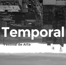 Cartaz de divulgação do Festival Temporal - Paraguai.