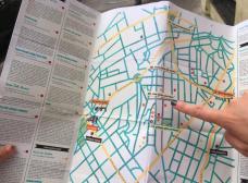 Mapa idealizado pela ONG indica os principais pontos do bairro<br />Imagem divulgação  [SampaPé]
