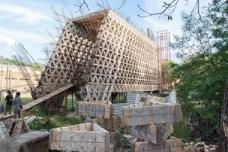 Obra de Solano Benítez na Faculdade de Arquitetura, Design e Arte – Fada de Assunção, Paraguai<br />Foto Lauro Rocha