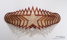 Córdoba (horizontal),2020 - wood and rattan 95x239x40 cm<br />Imagem divulgação