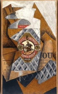 La botella de anis, 1914<br />Juan Gris