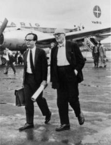 Italo Campofiorito e Le Corbusier, aeroporto de Brasília, 1962<br />Foto divulgação  [website CAU/RJ]