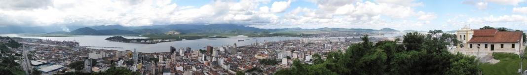 Santos, vista do Monte Serrat. Foto Victor Hugo Mori