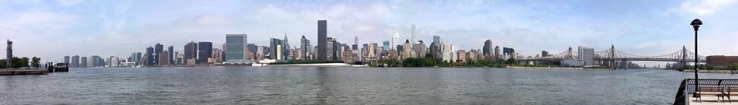Nova York vista de um parque no Queens. Foto Victor Hugo Mori