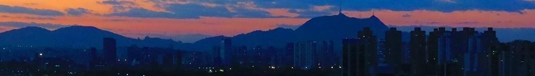 Pôr-de-sol em São Paulo. Foto Claudia Stinco