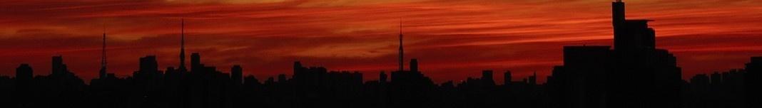 Crepúsculo em São Paulo. Foto Claudia Stinco