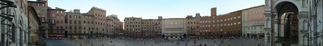 Piazza del Campo, Siena, Itália. Fotos Michel Gorski. Fotomontagem Victor Hugo Mori