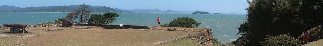 Fortaleza de Santa Cruz na Ilha de Anhatomirim. Foto Victor Hugo Mori