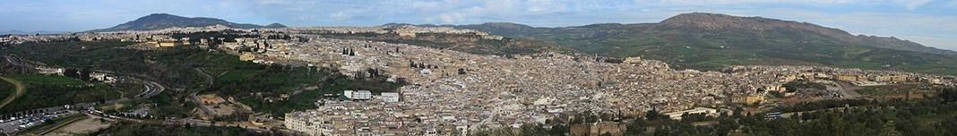 Vista panorâmica de Fes, Marrocos. Foto Victor Hugo Mori