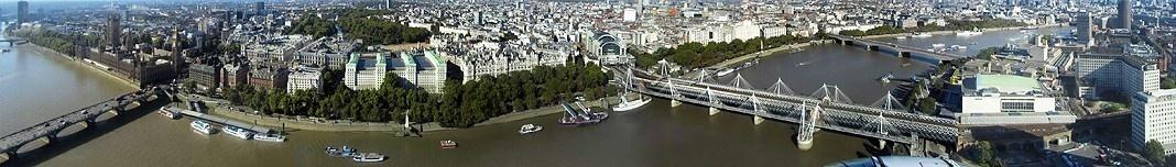 Vista panorâmica de Londres a partir da roda-gigante London Eye. Foto Victor Hugo Mori