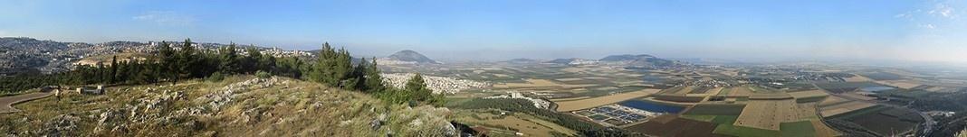 Nazareth, vales de Jezreel e Armageddon. Foto Victor Hugo Mori
