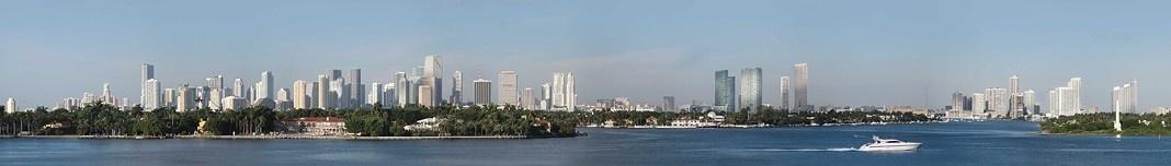 Vista panorâmica de Miami, Flórida, Estados Unidos. Foto Victor Hugo Mori