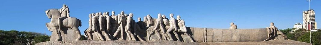 Monumento às Bandeiras, Parque do Ibirapuera, escultor Victor Brecheret. Foto Victor Hugo Mori
