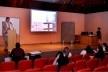 Apresentação de trabalho de Fernando Diniz e Aristóteles Cantalice, Justaposições e texturas na arquitetura em Pernambuco - 1965-1980,  no auditório Thomas Morus<br />Foto Michelle Schneider
