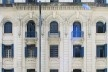 Hotel Columbia Palace, detalhe da fachada, Avenida São João, São Paulo<br />Foto Denise Helena Silva Duarte