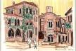 Cidadela de Carcassonne, França<br />Desenho de Petterson Dantas