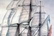 """Barco """"La Santísima Trinidad"""", construido en los astilleros de la Habana, en su tiempo el mayor barco de guerra del mundo"""