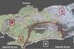 Proposta dos Corredores Verdes conectando a Tijuca, Pedra Branca e o maciço Gericinó. Zonas da cidade: (1) Centro; (2) Sul; (3) Norte; (4) Bacia Hidrográfica do Jacarepaguá – Corredor Verde Olímpico; (5) Bacia Hidrográfica de Guaratiba; (6) Zona Oeste. A <br />Imagem adaptada de Mosaico Carioca – Corredores Verdes – SMAC-RJ  [divulgação]