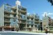 Vista geral. Concurso Habitação para Todos. CDHU. Edifícios de 6/7 pavimentos - 2º Lugar.