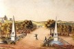 Passeio Público do Rio de Janeiro, cerca 1817-1818, Franz Josef Fruhbeck [Iconografia do Rio de Janeiro (1530–1890), vol II, p 7]