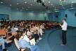 Fernando Lara ministrando palestra no Auditório do PPGITEC<br />Foto Douglas Naegeli